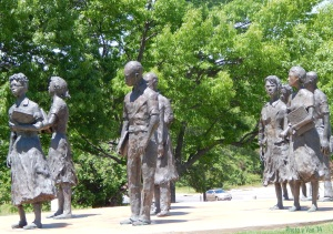 Monument to desegration of school in Little Rock