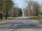 Road in edge of KS 66